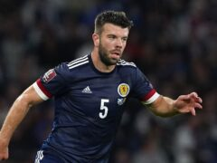 Scotland's Grant Hanley is available again after suspension (Andrew Milligan/PA)