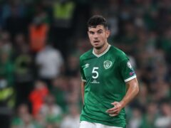 Republic of Ireland defender John Egan is expecting big things from teenage team-mate Andrew Omobamidele (Niall Carson/PA)