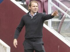 Hearts manager Robbie Neilson saw his side beat Motherwell 2-0 (Jeff Holmes/PA).