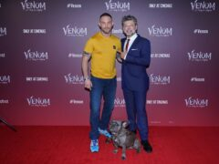 Tom Hardy (left) and Andy Serkis (Ian West/PA)
