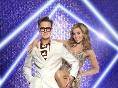 Tom Fletcher and his dance partner Amy Dowden (Ray Burmiston/BBC/PA)