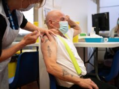 People receive Covid-19 booster vaccinations at Midland House, Derby (Joe Giddens/PA)