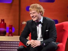 Ed Sheeran discussed family life with Ariana Grande during his guest slot on The Voice US (Matt Crossick/PA)