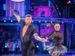 Adam Peaty and Katya Jones (Guy Levy/BBC)