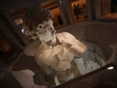 A 3D reproduction of Michelangelo's David is on display at Italy's pavilion of the Dubai Expo 2020 (Kamran Jebreili/AP)
