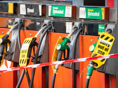 Some fuel stations have completely run dry in recent days (PA)