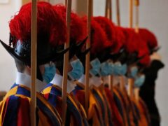 The Swiss Guards are a minor armed force and honours unit who guard the Vatican (AP Photo/Alessandra Tarantino, File)