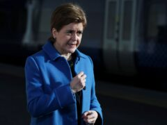 First Minister Nicola Sturgeon has officially opened Glasgow Queen Street station after refurbishment (Russell Cheyne/PA)