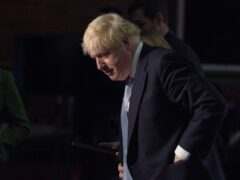 Boris Johnson taking part in media interviews during the Conservative Party conference in Manchester (Peter Byrne/PA)