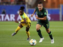Australia's Lisa De Vanna, right, joined a national women's squad aged 17 (Laurent Cipriani/AP)