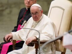 Pope Francis during his weekly general audience on Wednesday (Alessandra Tarantino/AP)