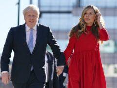 Downing Street said Boris and Carrie Johnson had complied with coronavirus rules over Christmas (Jacob King/PA)