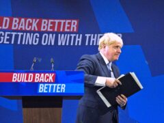Prime Minister Boris Johnson was not shy about criticising former Conservative governments in his conference speech (Peter Byrne/PA)