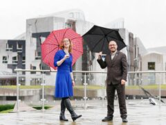 Lorna Slater and Patrick Harvie ahead of their party's autumn conference (Jane Barlow/PA)