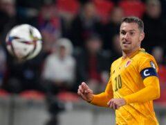 Wales captain Aaron Ramsey is targeting World Cup qualification (Petr David Josek/AP)