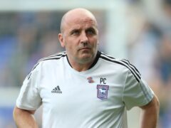 Paul Cook was left frustrated as Ipswich surrendered two points (Nigel French/PA)
