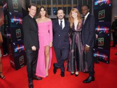 Matt Smith, Synnove Karlsen, Edgar Wright, Krysty Wilson-Cairns and Michael Ajao attend the premiere of Last Night in Soho (Yui Mok/PA)