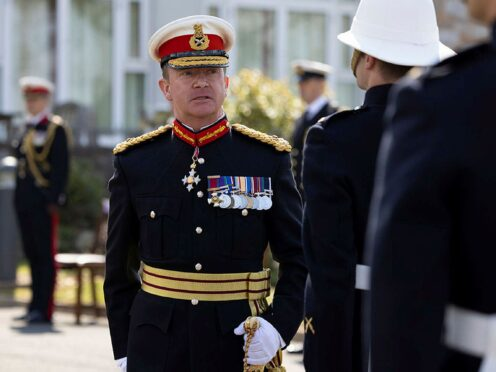 Police seized a licensed firearm from the Hampshire home of former head of the Royal Marines Major General Matthew Holmes just days before his death (Ministry of Defence/PA)