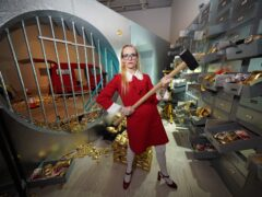 The Billion Dollar Robbery by Lucy Sparrow – Saatchi Gallery (Yui Mok/PA)