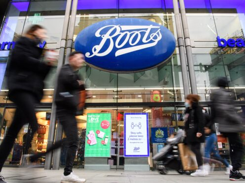 Sales through Boots' online business had doubled against pre-pandemic levels (Matt Crossick/PA)