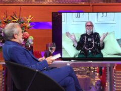 Sir Billy Connolly appears on the Graham Norton Show via video-link from Florida (Matt Crossick/PA)