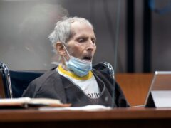 Robert Durst was sentenced to life in prison without parole on Thursday (Myung J Chung/Los Angeles Times/AP)