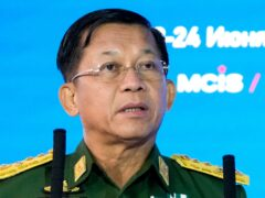 Min Aung Hlaing has not been invited to the ASEAN summit (Alexander Zemlianichenko/AP)