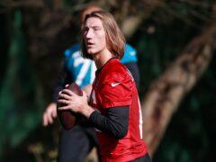 Jacksonville Jaguars quarterback Trevor Lawrence is looking for his first NFL win (Ian Walton/AP)