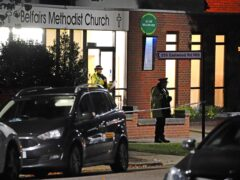 Police at Belfairs Methodist Church in Eastwood Road North, Leigh-on-Sea, Essex (Jonathan Brady/PA).