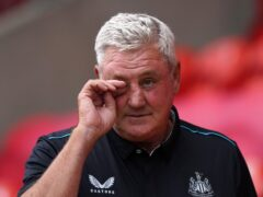Steve Bruce has been made the 'fall guy' at Newcastle, according to son Alex (Tim Goode/PA)