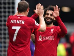 Mohamed Salah (right) put Watford to the sword (Tess Derry/PA)