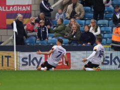 Harry Cornick (left) struck twice for Luton (Kirsty O'Connor/PA)