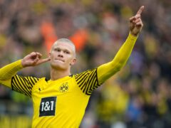 Erling Haaland scored a penalty against Mainz (Martin Meissner/AP)