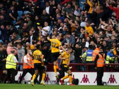 Wolves scored three times in the final 10 minutes at Aston Villa (Nick Potts/PA)