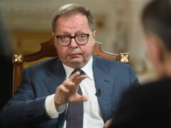 Russian ambassador to the UK Andrei Kelin appearing on BBC's The Andrew Marr Show (Jeff Overs/BBC/PA)