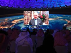 The Prince of Wales addressing the forum in Riyadh, Saudi Arabia (The Saudi Green Initiative Forum/PA)