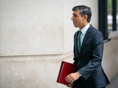 Chancellor of the Exchequer Rishi Sunak arrives at BBC Broadcasting House, London, to appear on The Andrew Marr show (Aaron Chown/PA)