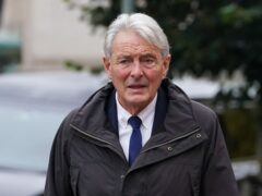 David Henderson arriving at Cardiff Crown Court (Jacob King/PA)