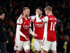 Calum Chambers netted for Arsenal (John Walton/PA)
