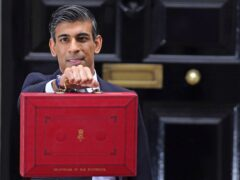 Chancellor Rishi Sunak pictured before giving his Budget speech (Jacob King./PA)