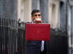 Chancellor Rishi Sunak holds his ministerial red box (Victoria Jones/PA)
