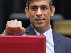 Chancellor of the Exchequer Rishi Sunak leaving 11 Downing Street before delivering his Budget (Jacob King/PA)
