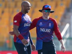 Tymal Mills (left) took three wickets for England against Bangladesh (Aijaz Rahi/AP)