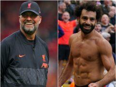 Jurgen Klopp and Mohamed Salah (Peter Byrne/PA)