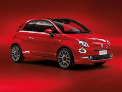 The red colour is applied to the exterior and a variety of interior components too