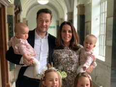 Mariam Ayad and Billy Hookway with their daughters at their wedding in 2019 (Mariam Ayad/PA)