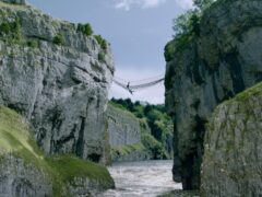 The rope bridge used in the stunt (ITV/PA)