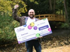 Plumber Sean Irwin, 36, has won £300,000 on a Lottery scratchcard (National Lottery/PA)