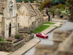 The little hydrogen R/C car was put to the test around the model village