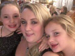 Ruby, 11, Gemma, 38, and Scarlett Ellis, nine (Gemma Ellis/PA).